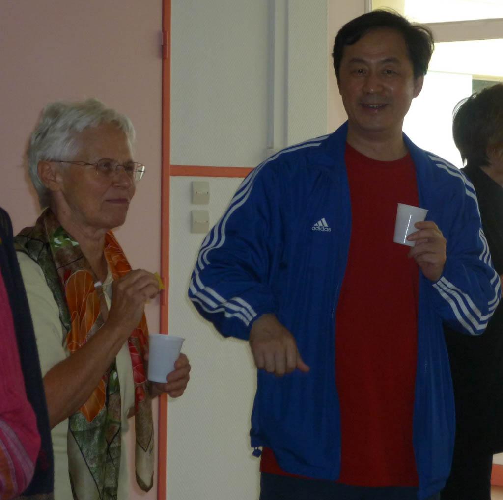 Ingrid avec Maître Hu Xiaofei