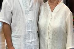 Maître Liu Deming avec Ingrid Malenfant au stage de novembre 2017 à la Roche Du Theil