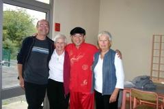 Olivier, Ingrid, Maître Liu Deming, et Françoise